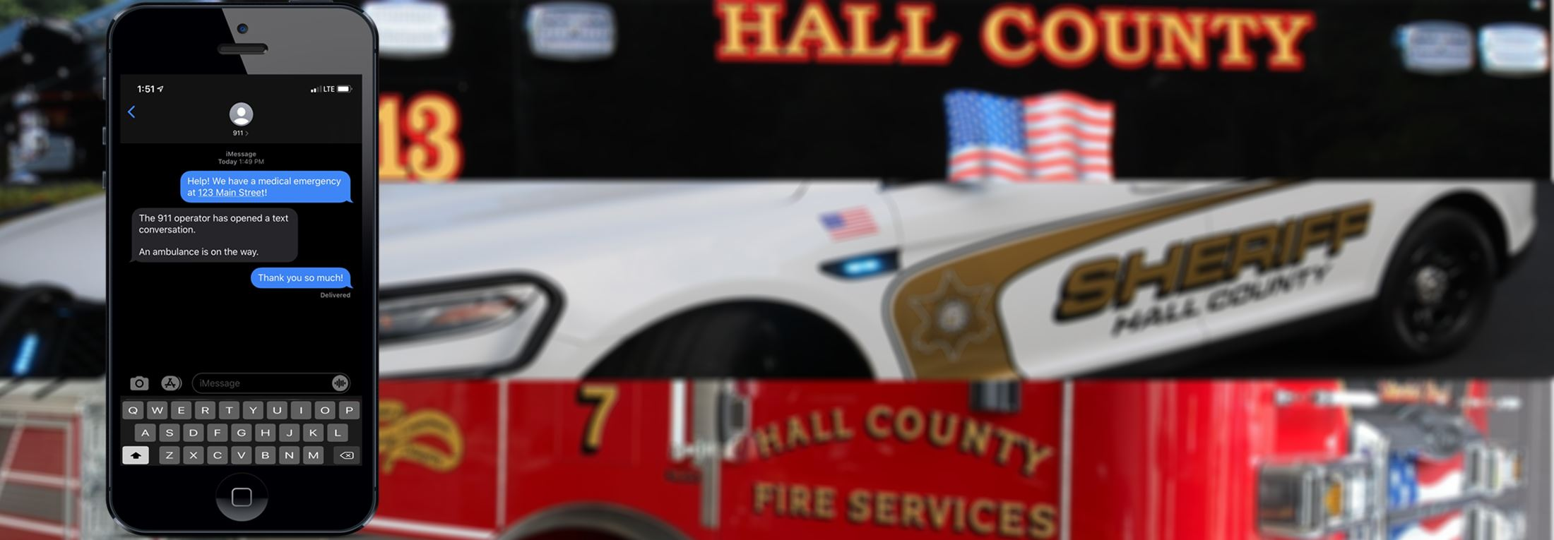 Hall County residents can now send a text message to contact 911.