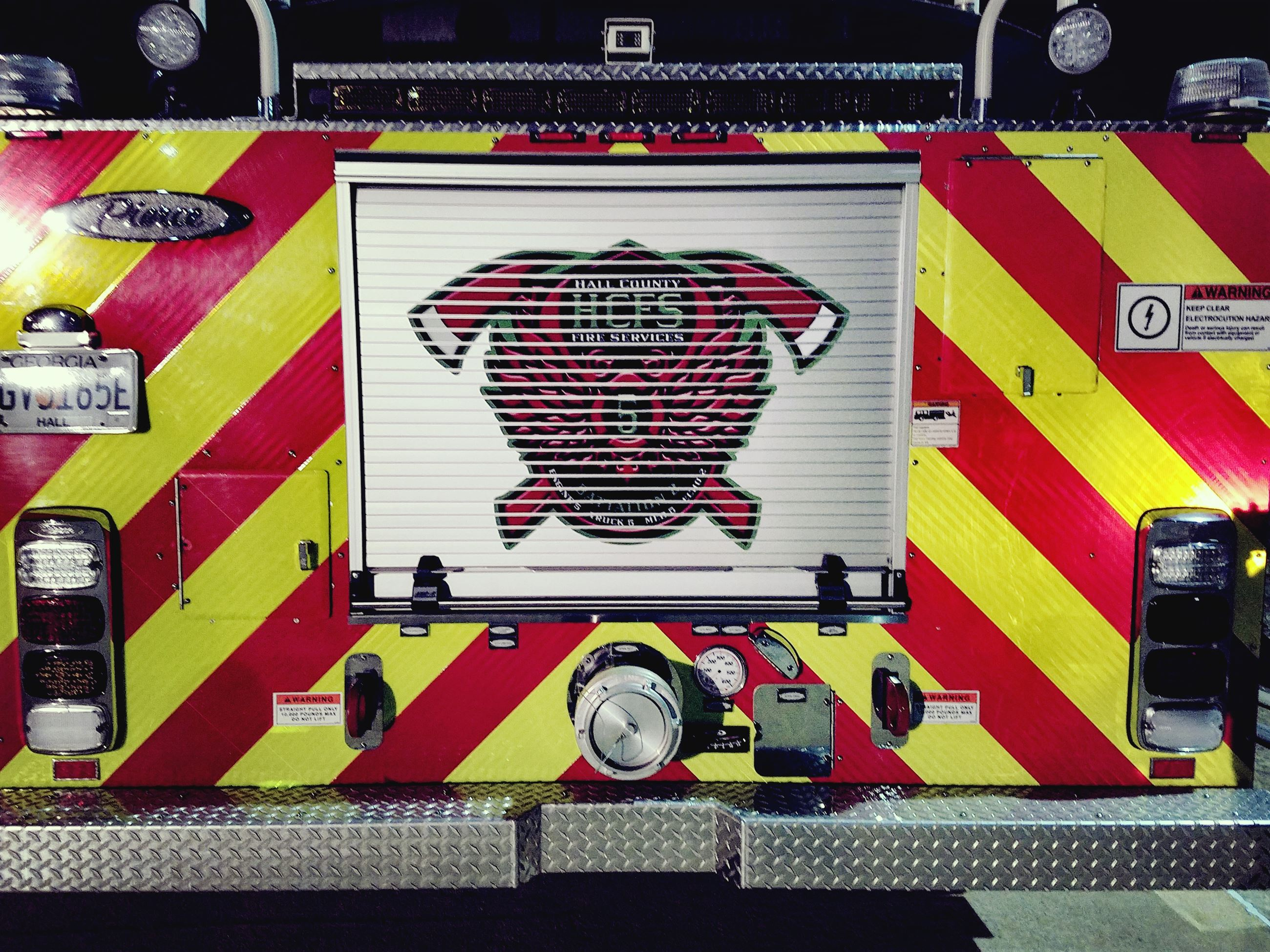 Front of fire engine