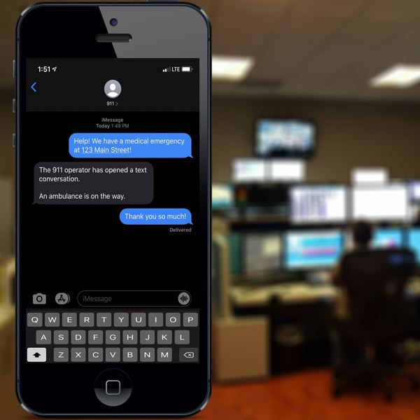 Residents can now send a text message to open a conversation with a 911 dispatcher.
