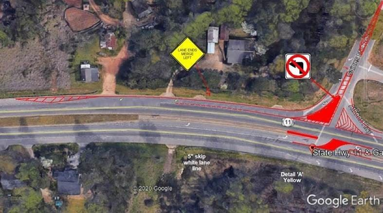 Gaines Mill Road changes are proposed by GDOT.