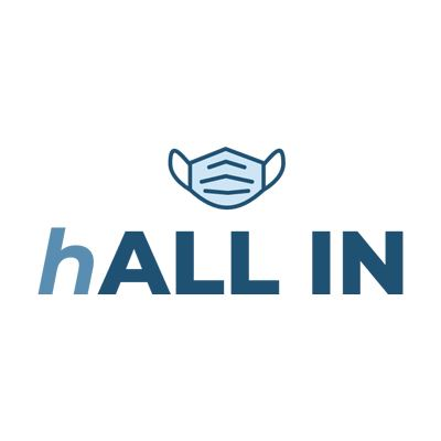 The hALL IN logo